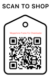 Shop Scan Code, Megaphone Frame - Cheerleader, Personalized Unique Gifts