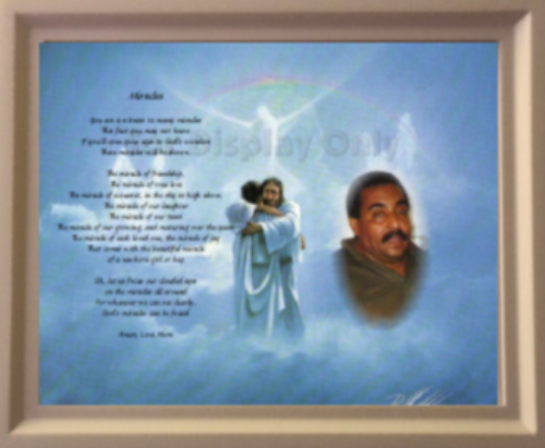 Memorial Gifts Your Own Written Poem Plus Photo In Wooden Frame - $56.99