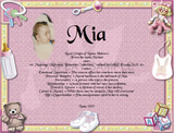 Mia, Name meaning gift, Add your favorite photo to name meanings, what in my name, name gifts, Personalized Gifts, personalized-unique-gifts