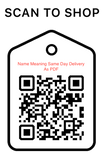 Shop Scan Code, Name Meaning Same Day Delivery As PDF,  Personalized Unique Gifts