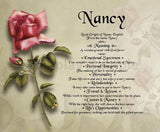 Nancy, first name meaning, name gift, Personalized-Unique-Gifts, personalize gifts, personalized gifts