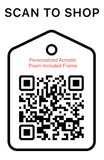 Shop Scan Code, Personalized Acrostic Poem Included Frame, Personalized Unique Gifts