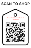Shop Scan  Code, Personalized Your Own Poetry On Background, Personalized Unique Gifts