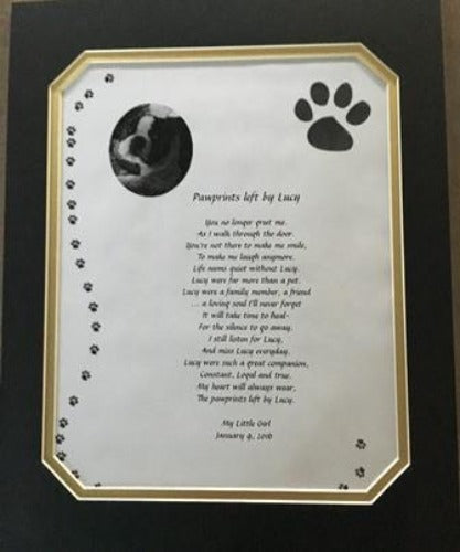 loss of pet, Paw prints left by You, Personalized Gifts, personalized-unique-gifts