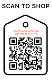 Shop Scan Code, Poem Name Same day Delivery As PDF File, Personalized Unique Gifts