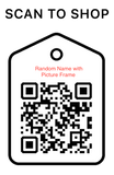 Shop Scan Code, Random Name With Picture Frame, Personalized Unique Gifts