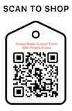 Shop Scan Code, Ready Made Custom Poem With Picture Frame, Personalized Unique Gifts