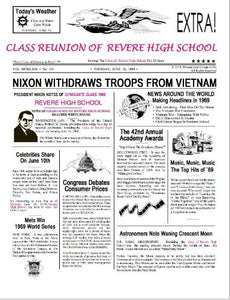 Class Reunion, School Reunion, Class Reunion Newspaper, Headlines Reunion, Personalized-Unique-Gifts, Personalized Gifts