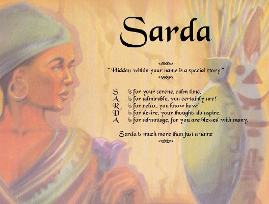 Acrostic poem for kids, Sarda, Woman is African Poem Name, personalized gifts, personalized unique gifts