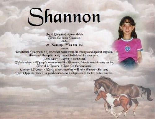 Shannon, Name meaning gift, Add your favorite photo to name meanings, what in my name, name gifts, Personalized Gifts, personalized-unique-gifts
