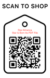 Shop Scan Code, Star Almanca Star Is Born As PDF File, Personalized Unique Gifts