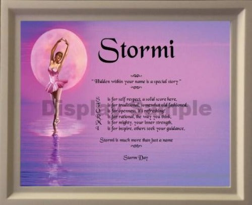 Name Poem in picture frame, Stormi, Name poem gift, Acrostic poem, Name Poem, personalized gifts, personalized-unique-gifts, personalize gifts