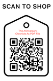 Shop Scan Code, The Anniversary Chronicle As PDF File, Personalized Unique Gifts