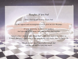 "personalized poem shown ""Thoughts of You Dad"" with 1957 car, complete poem, poem with car scene, poem gift, we have poem for you, Personalized Gifts, personalized unique gifts"