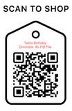 Shop Scan Code, Twins Birthday Chronicle As PDF File, Personalized Unique Gifts