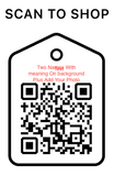 Shop Scan Code, Two Names and Meaning on Background Plus Photo, Personalized Unique Gifts