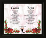 Two names together with meaning in frame, Two names together with meaning on background, couples two together, personalized-unique-gifts