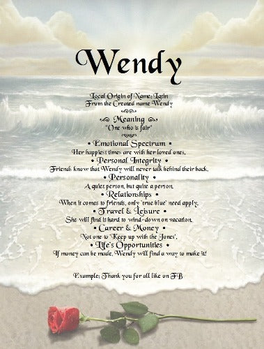 Wendy,  name meaning, meaning of name,  personalized unique gifts, personalized gifts