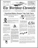 The birthday chronicle, on the day were born gifts, the day you were born gifts, newspaper, front page newspaper, about day You was born on, birthday gift, Personalized Gifts, personalized-unique-gifts