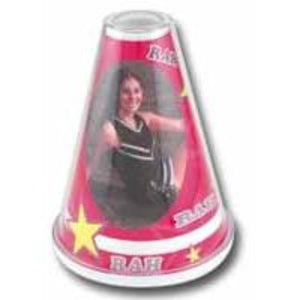 cheerleader frame, megaphone frame, image for team player, school sport