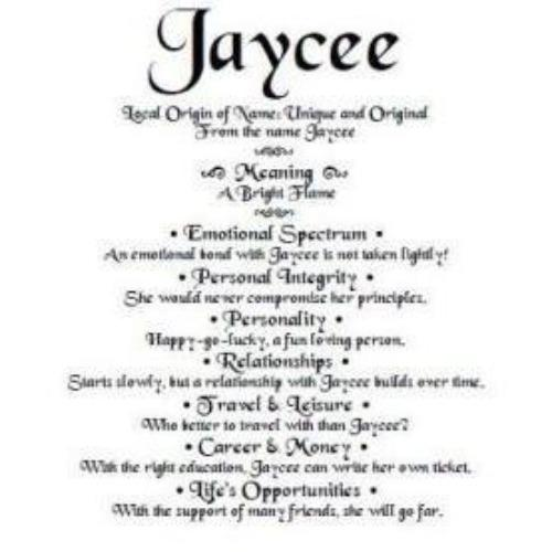 name meaning by email, Jaycee name gift, order by email, personalized-unique-gifts