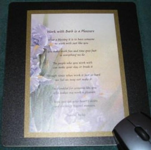computer mouse pad, Poem Gift, mouse pad with poem gift, personalized-unique-gifts.com