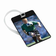 Photo Bag Tag,  ID tag, school pass holder, bag ID label, book mark, photo ID