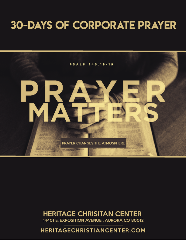 PRAYER MATTERS | 30-Days of Corporate Prayer FREE eBOOK