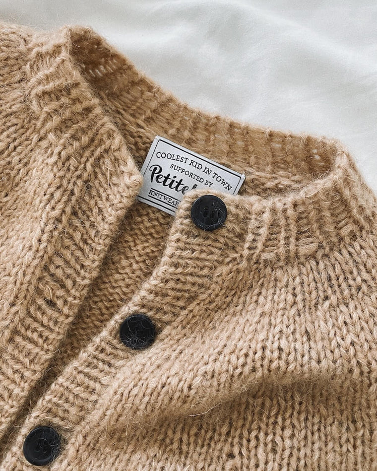 Knapper til Novice Cardigan Mini & Junior - Chunky Edition (sort)