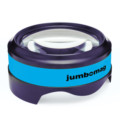 Jumbomag LED Desktop Magnifying Glass - Blue