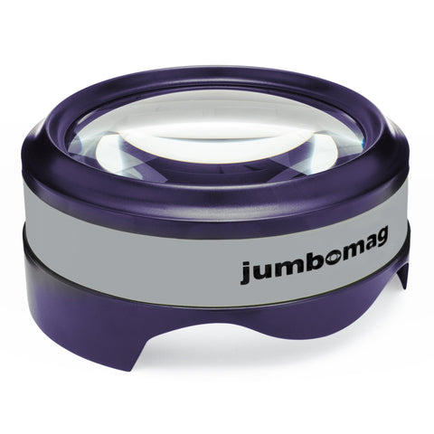 Jumbomag LED Desktop Magnifying Glass - Gray
