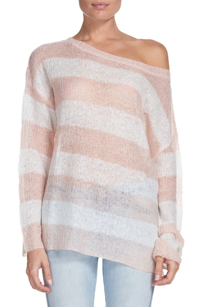 Elan: Striped Oversized Sweater