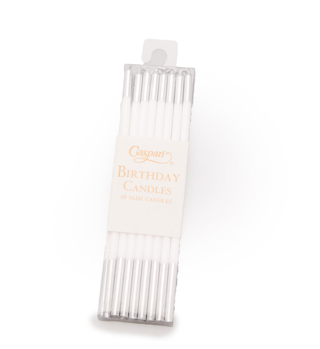 Slim Two Tone Birthday Candles