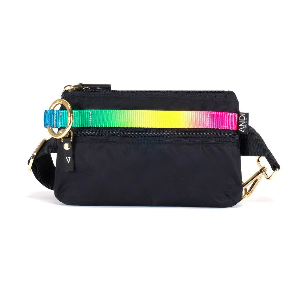 Black and Rainbow Urban Clutch