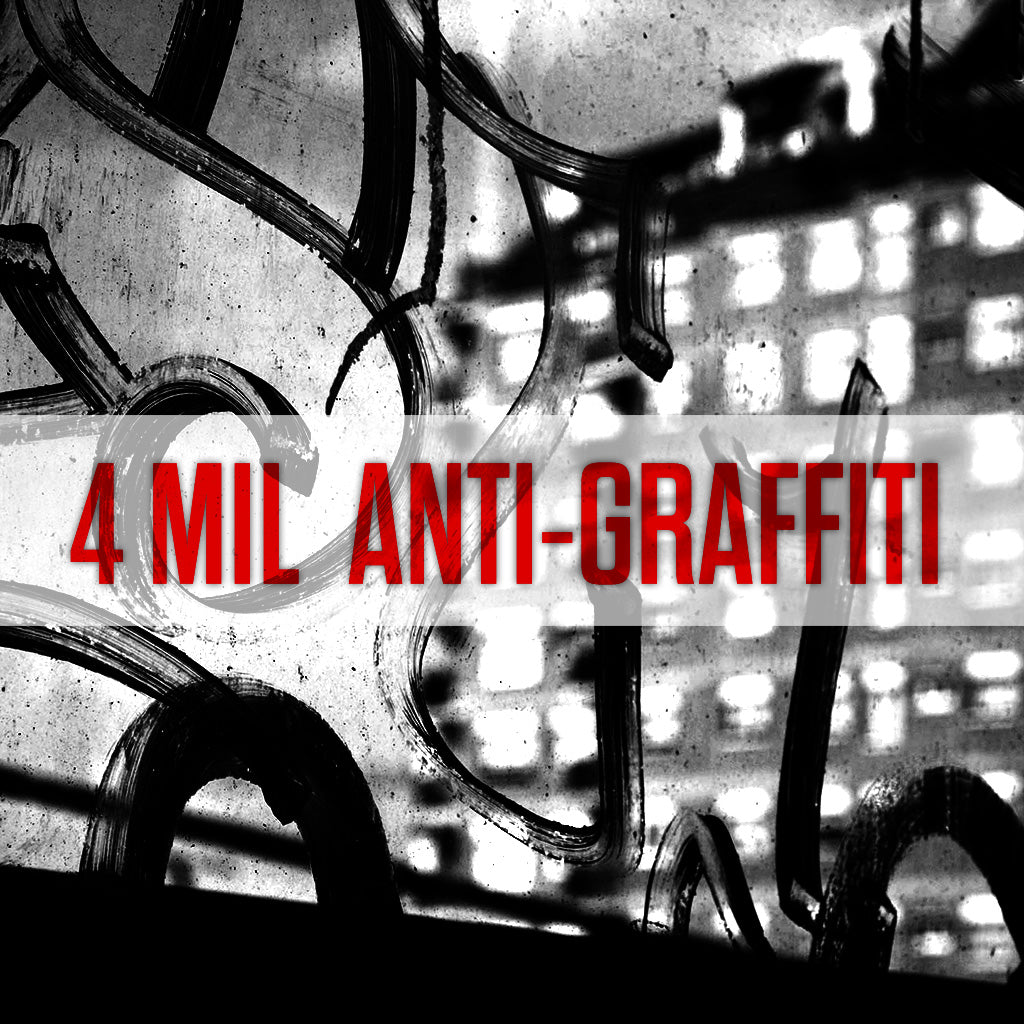 4 Mil Anti-Graffiti Window Film used for Vandalism Protection