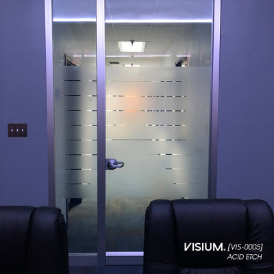 Etched Glass Window Film Stripe Pattern | VISIUM® Privacy Window Films