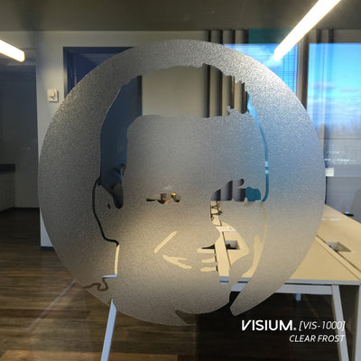 Frosted Cut Vinyl Window Film for Logos | VISIUM® Clear Frost