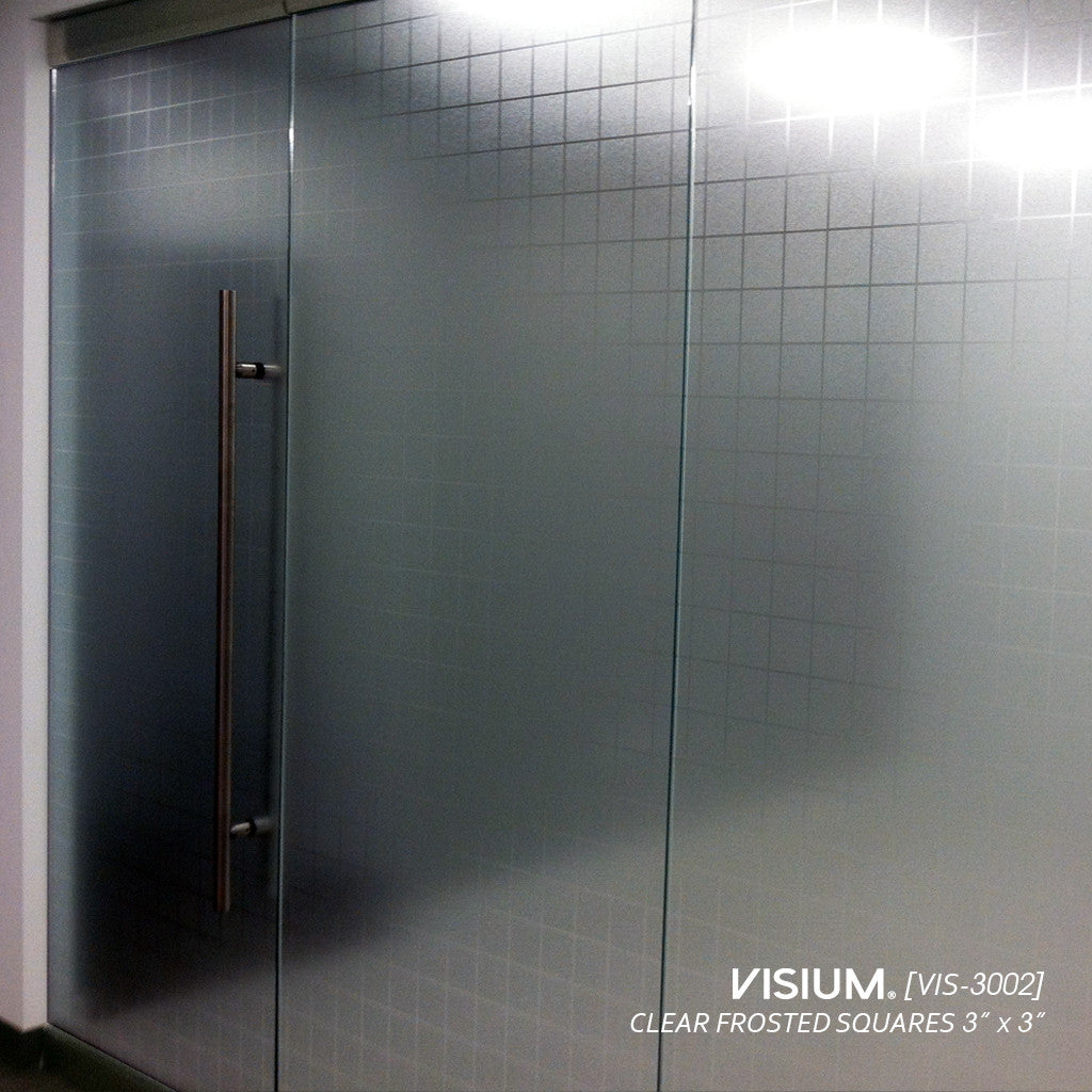 Clear Frosted Sqaures 3 X 3 In Vis 3002