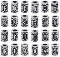 Stainless Steel Elder Futhark Runic Charms - 24 Pack - Norse Blood