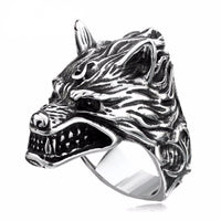 Stainless Steel Fenrir Wolf Ring - Norse Blood