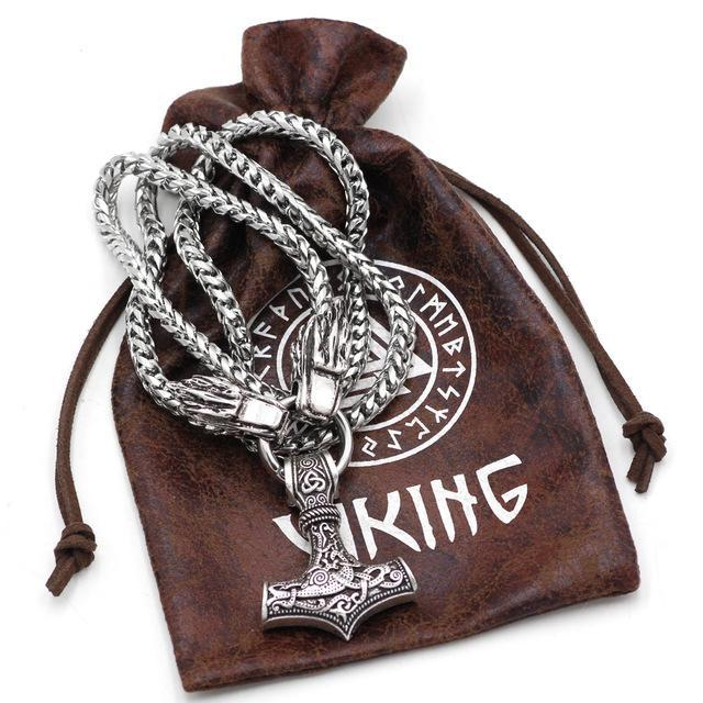 Stainless Steel King's Chain Mjolnir - Norse Blood