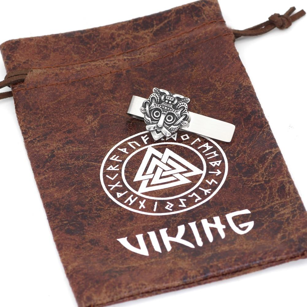 Stainless Steel Odin Tie Clip - Norse Blood