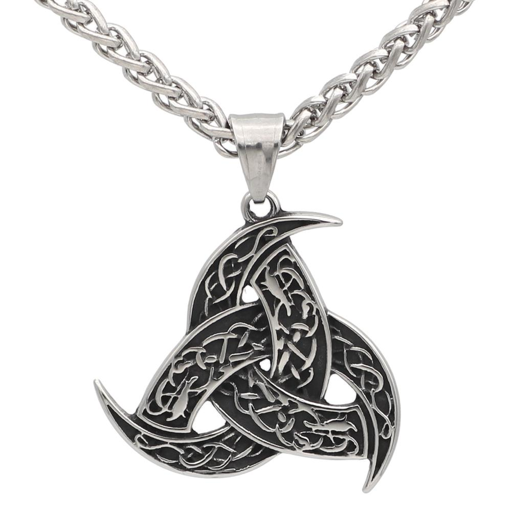 Stainless Steel Triple Horn's of Odin Pendant - Norse Blood