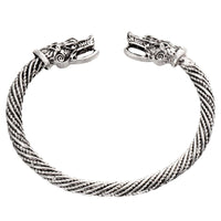 Stainless Steel Wolf Armring - Norse Blood