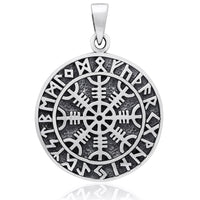 Sterling Silver Aegishjalmur Helm of Awe Pendant - Norse Blood