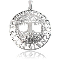 Sterling Silver Celtic Yggdrasil Tree of Life Pendant - Norse Blood