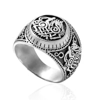 Sterling Silver Sleipnir Odin's Horse Ring - Norse Blood