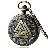 Valknut Norse Pocket Watch - Norse Blood