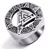 Stainless Steel Valknut Ring - Norse Blood
