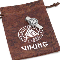 Stainless Steel Valknut Tie Clip - Norse Blood